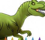 Knjiga za barvanje dinozavrov I. del